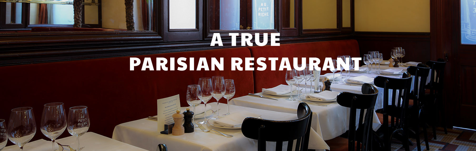 Step inside this traditional Parisian house, located just a stone's throw away<br /> from Grands Boulevards and the Opera, and breathe in the history as it fuses with the aromas<br /> of the mouth-watering bourgeois cuisine.